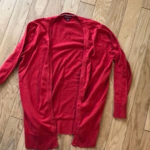 Red Merona cardigan